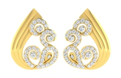 18KT Gold and 0.73 Carat Diamond Earrings