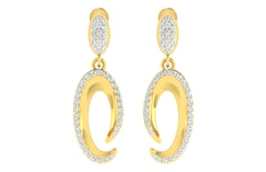 18KT Gold and 0.78 Carat Diamond Earrings