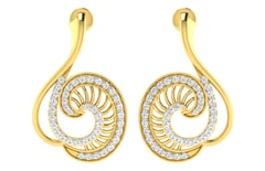 18KT Gold and 0.64 Carat Diamond Earrings