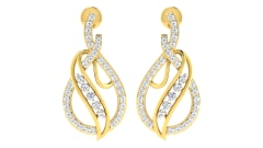 18KT Gold and 0.61 Carat Diamond Earrings
