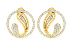 18KT Gold and 0.70 Carat Diamond Earrings