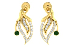 18KT Gold and 0.30 Carat Diamond Earrings