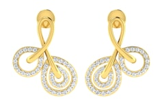 18KT Gold and 0.35 Carat Diamond Earrings