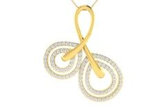 18KT Gold and 0.58 Carat Diamond Pendant