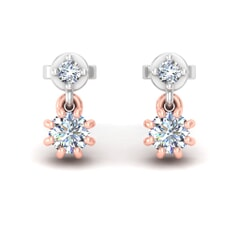 18KT Gold and 0.39 Carat Diamond Earrings