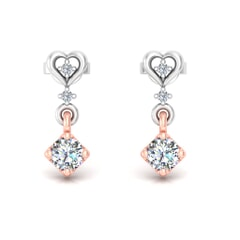 18KT Gold and 0.34 Carat Diamond Earrings