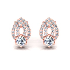 18KT Gold and 0.51 Carat Diamond Earrings