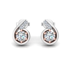 18KT Gold and 0.36 Carat Diamond Earrings