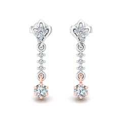 18KT Gold and 0.43 Carat Diamond Earrings