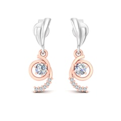 18KT Gold and 0.26 Carat Diamond Earrings
