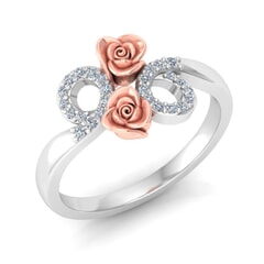 0.14 Carat Diamond Gold Ring