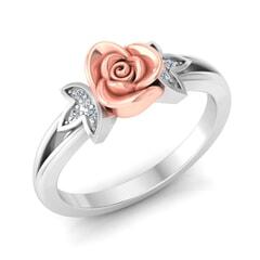 0.04 Carat Diamond Gold Ring