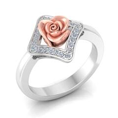 0.05 Carat Diamond Gold Ring