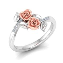 0.06 Carat Diamond Gold Ring