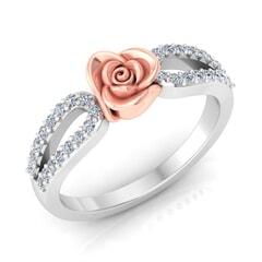 0.32 Carat Diamond Gold Ring
