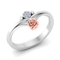 0.03 Carat Diamond Gold Ring