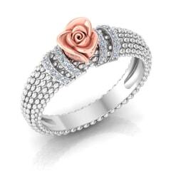 0.11 Carat Diamond Gold Ring