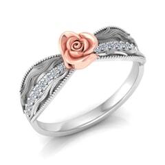 0.15 Carat Diamond Gold Ring