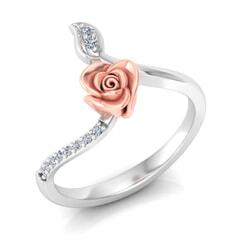 0.08 Carat Diamond Gold Ring