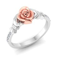 0.10 Carat Diamond Gold Ring