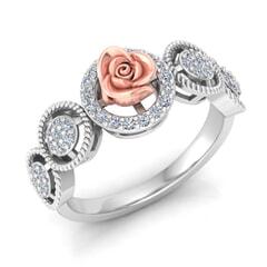 0.33 Carat Diamond Gold Ring