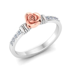 0.12 Carat Diamond Gold Ring