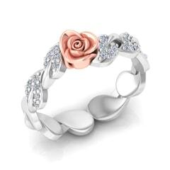 0.18 Carat Diamond Gold Ring
