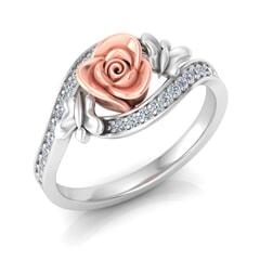 0.23 Carat Diamond Gold Ring