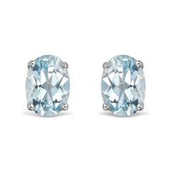14K Gold Aquamarine Earrings