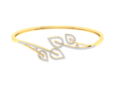 18K Gold and 0.29 carat Diamonds Bangle