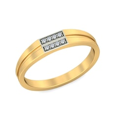 18KT Gold and 0.07 Carat F Color VS Clarity Diamond Band