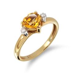 14K Gold Citrine Ring