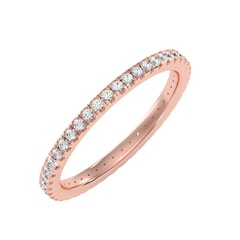 18KT Gold and 0.36 Carat F Color VS Clarity Round Diamond Eternity Ring