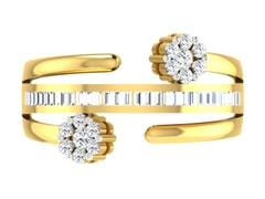 18KT Gold and 0.70 Carat F Color VS Clarity Diamond Ring