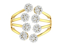 18KT Gold and 1.00 Carat F Color VS Clarity Diamond Ring