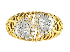 18KT Gold and 0.54 Carat F Color VS Clarity Diamond Ring