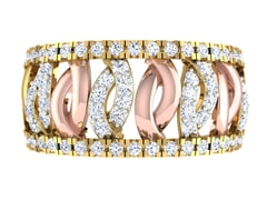 18KT Gold and 0.92 Carat F Color VS Clarity Diamond Ring