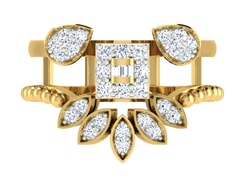 18KT Gold and 0.51 Carat F Color VS Clarity Diamond Ring