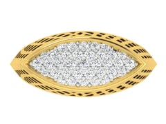 18KT Gold and 0.53 Carat F Color VS Clarity Diamond Ring