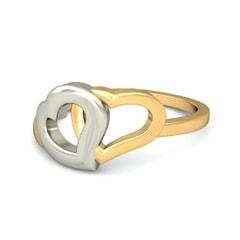 18KT Gold Heart Ring