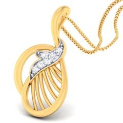 18K Gold Pendant and 0.08carat Diamonds