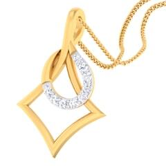 18K Gold Pendant and 0.09 carat Diamonds
