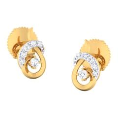 18K Gold Earring and 0.29 carat Diamonds