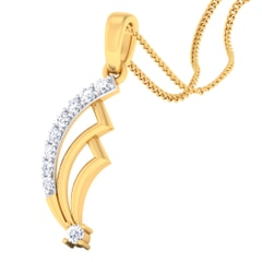 18K Gold Pendant and 0.11 carat Diamonds