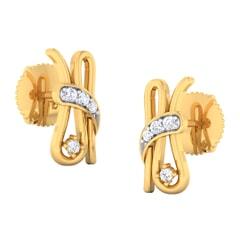 18K Gold Earring and 0.09 carat Diamonds