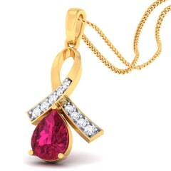 18K Gold Pendant and 0.13 carat Diamonds