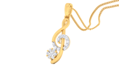 18K Gold Pendant and 0.19 carat Diamonds