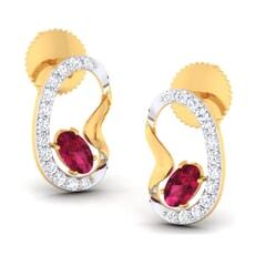 18K Gold Earring and 0.30 carat Diamonds