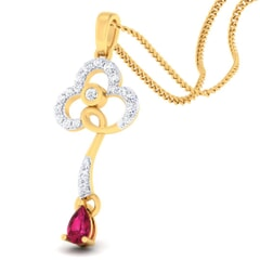18K Gold Pendant and 0.26 carat Diamonds