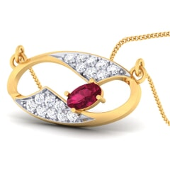 18K Gold Pendant and 0.21 carat Diamonds